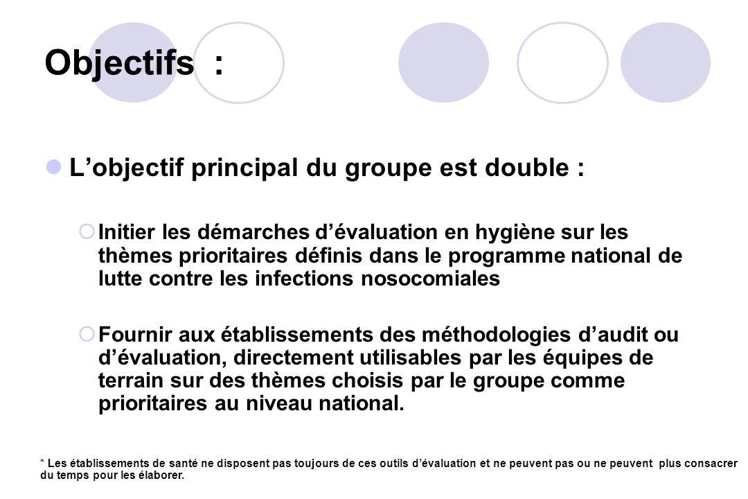 Objectifs : L'objectif principal du groupe est double :