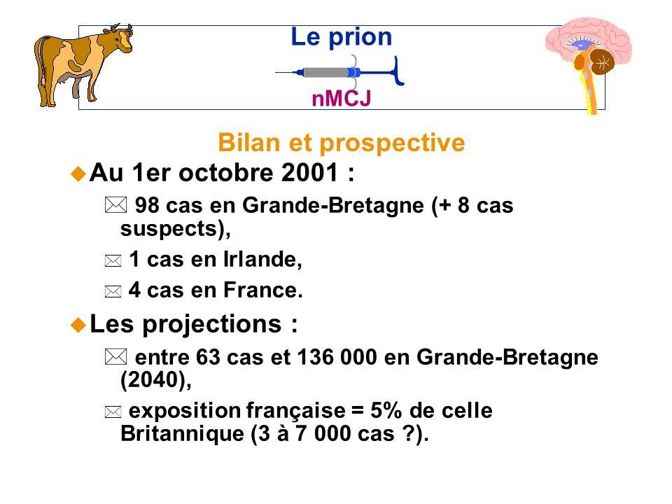 Le prion Bilan et prospective