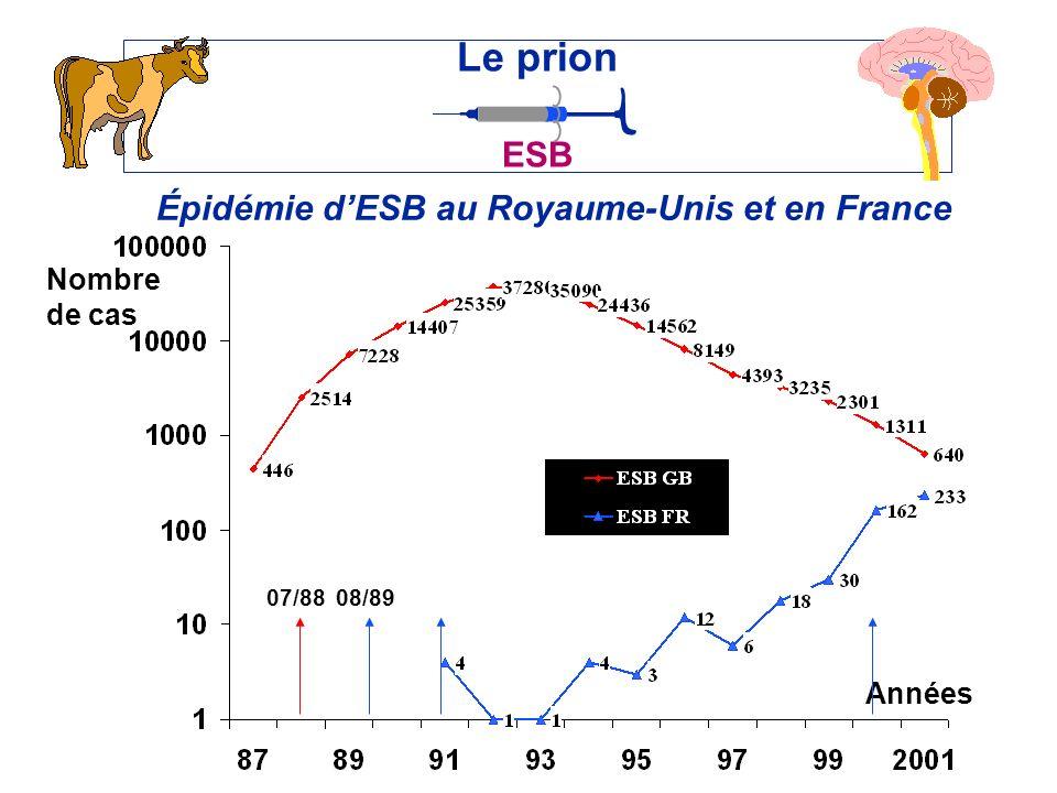 Épidémie d'ESB au Royaume-Unis et en France