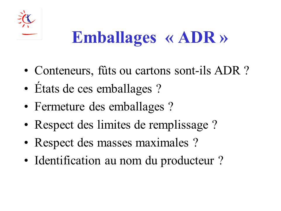 Emballages « ADR » Conteneurs, fûts ou cartons sont-ils ADR