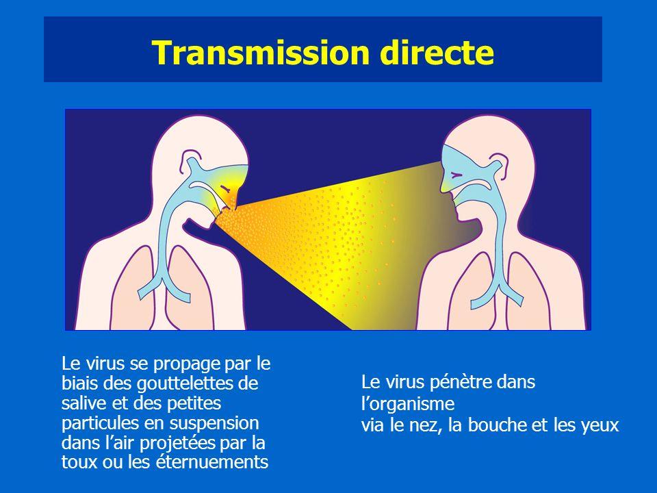 Transmission directe Diapositive 6: La grippe, une extrême contagiosité.