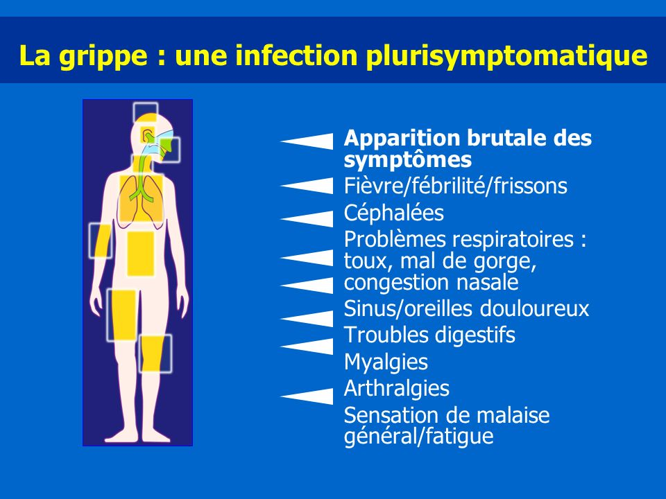 La grippe : une infection plurisymptomatique