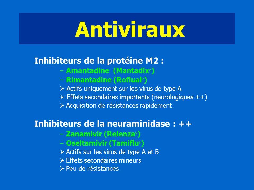 Antiviraux Inhibiteurs de la protéine M2 :