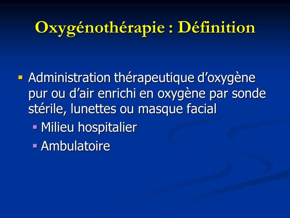 Oxygénothérapie : Définition