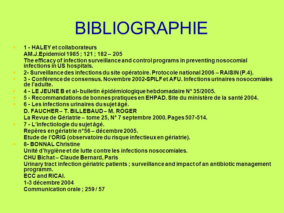 BIBLIOGRAPHIE 1 - HALEY et collaborateurs