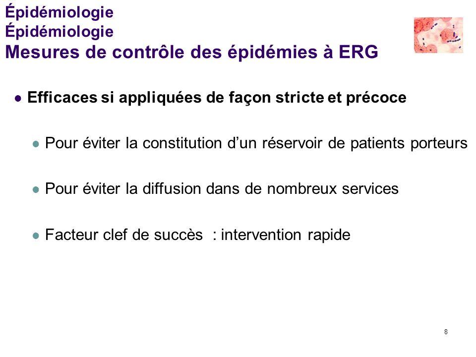 Épidémiologie Épidémiologie Mesures de contrôle des épidémies à ERG