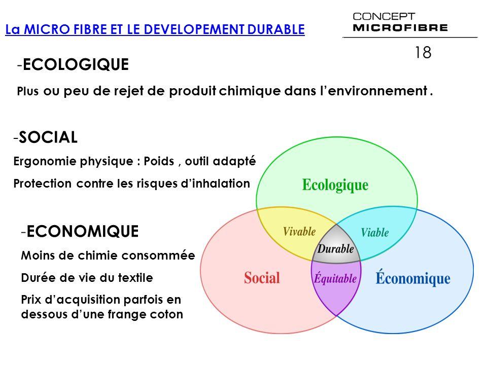 18 ECOLOGIQUE SOCIAL ECONOMIQUE