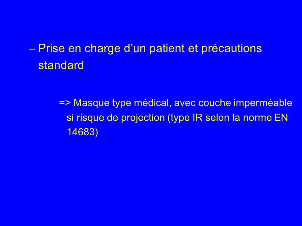 Prise en charge d'un patient et précautions standard