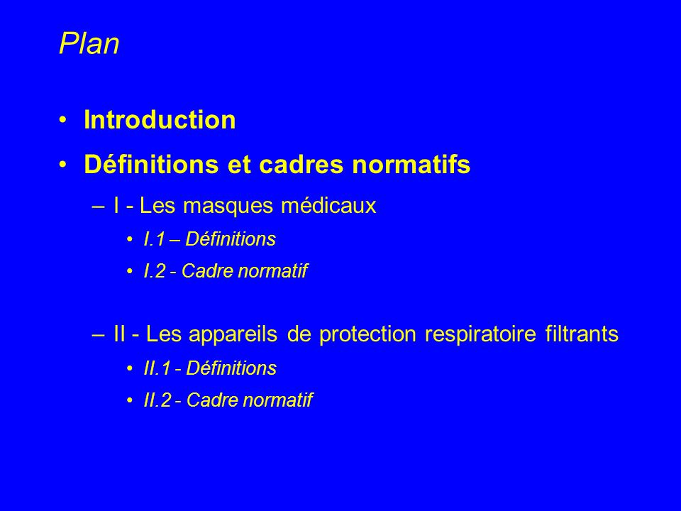 Plan Introduction Définitions et cadres normatifs