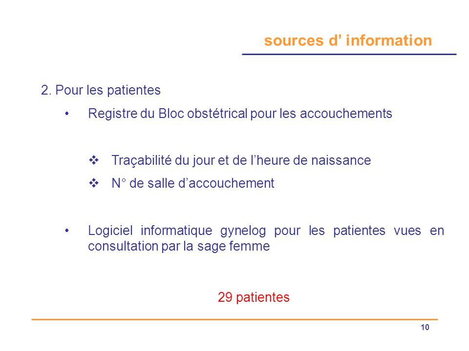sources d' information