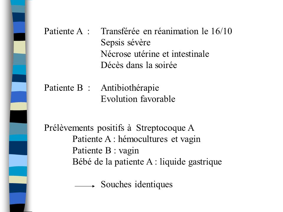 Patiente A : Transférée en réanimation le 16/10