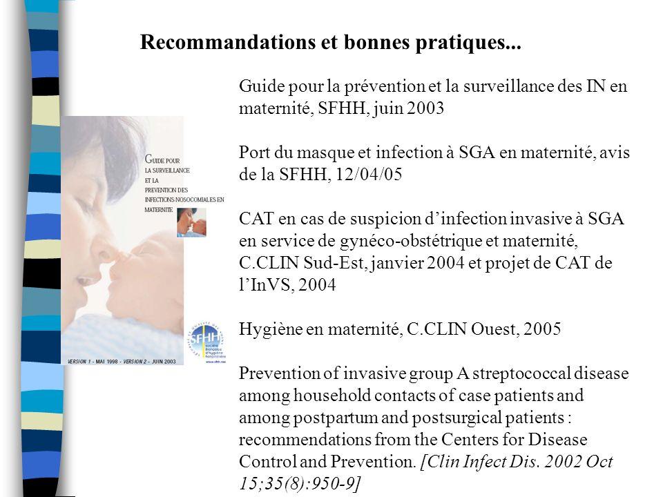 Recommandations et bonnes pratiques...