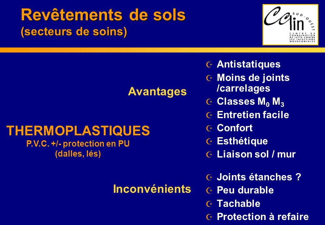 Revêtements de sols (secteurs de soins)