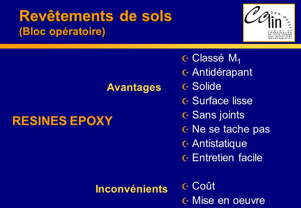 Revêtements de sols (Bloc opératoire)