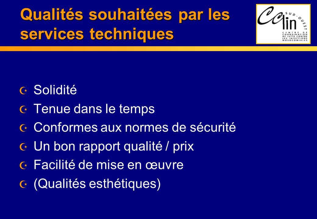 Qualités souhaitées par les services techniques
