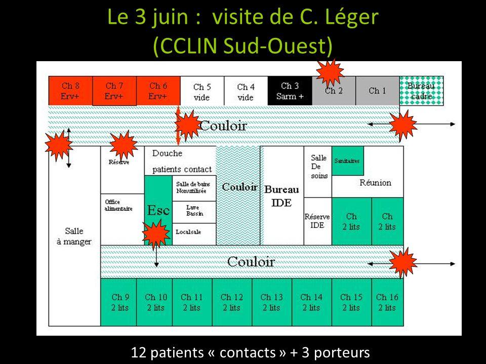 Le 3 juin : visite de C. Léger (CCLIN Sud-Ouest)