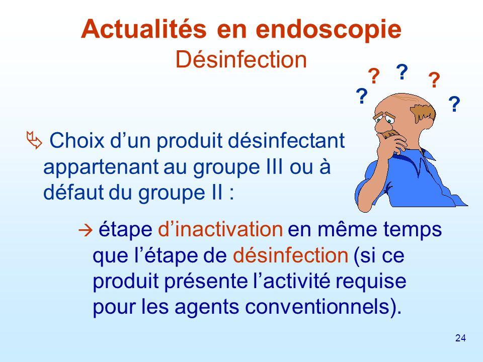 Actualités en endoscopie Désinfection