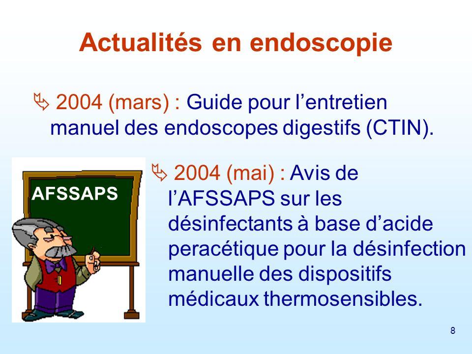 Actualités en endoscopie