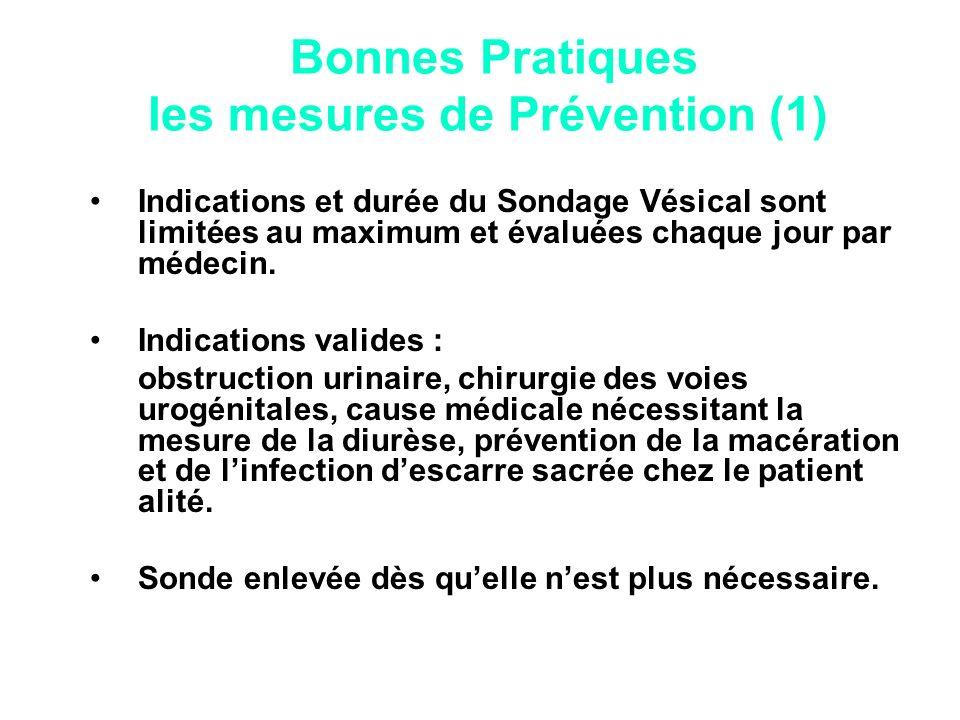 Bonnes Pratiques les mesures de Prévention (1)