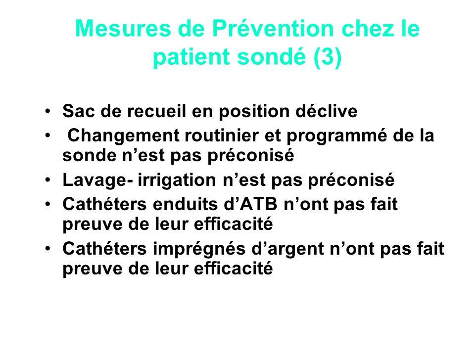Mesures de Prévention chez le patient sondé (3)