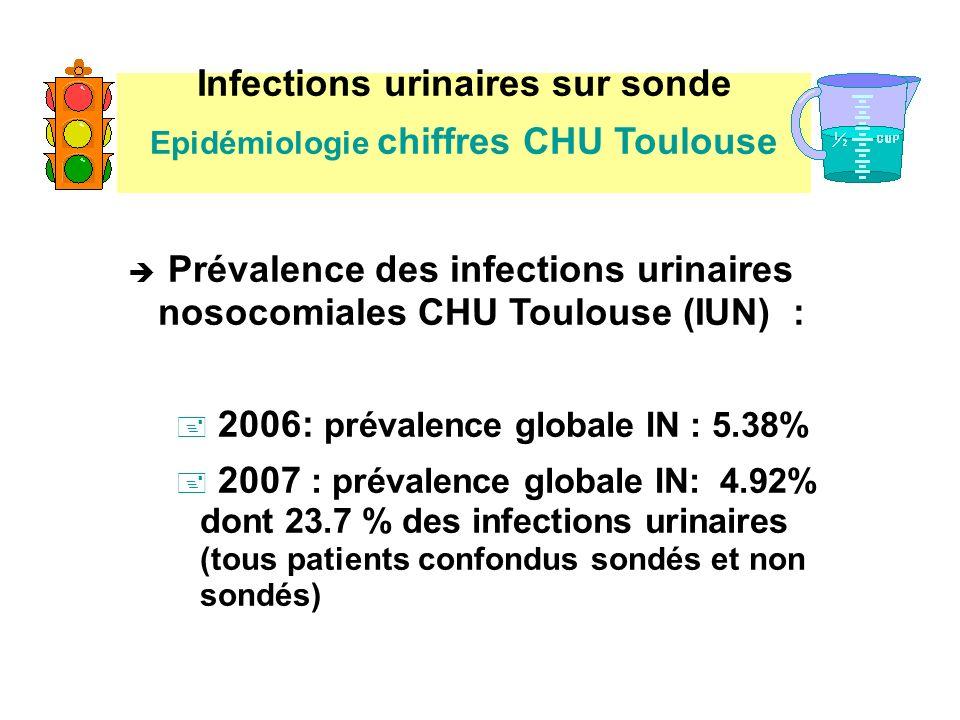Infections urinaires sur sonde Epidémiologie chiffres CHU Toulouse