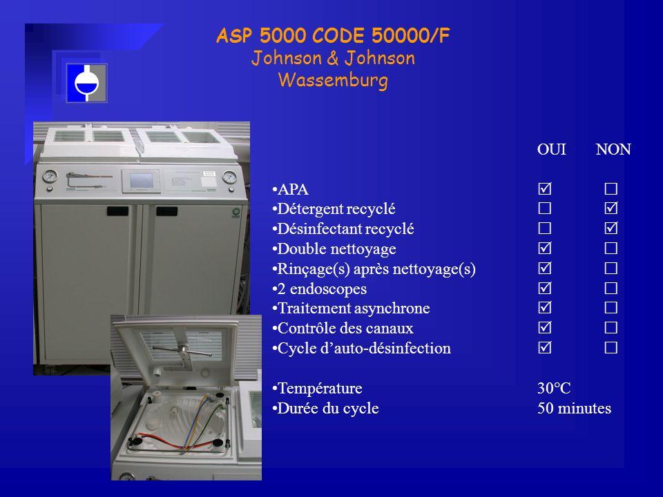 ASP 5000 CODE 50000/F Johnson & Johnson Wassemburg OUI NON APA  