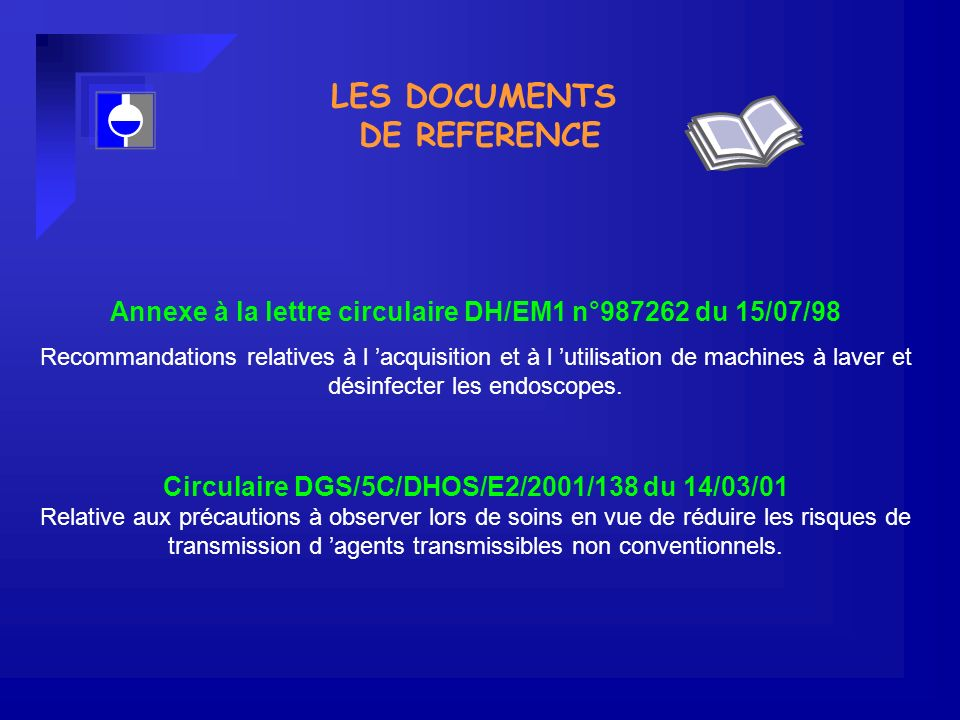 LES DOCUMENTS DE REFERENCE