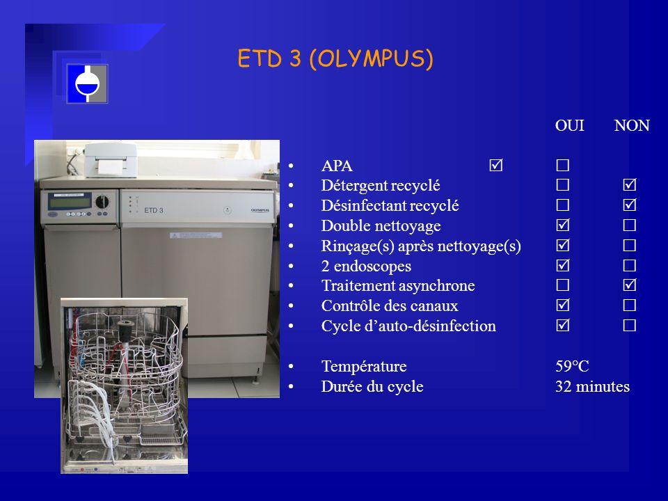 ETD 3 (OLYMPUS) OUI NON APA   Détergent recyclé  