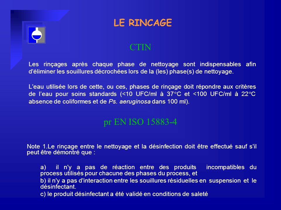 LE RINCAGE CTIN pr EN ISO 15883-4