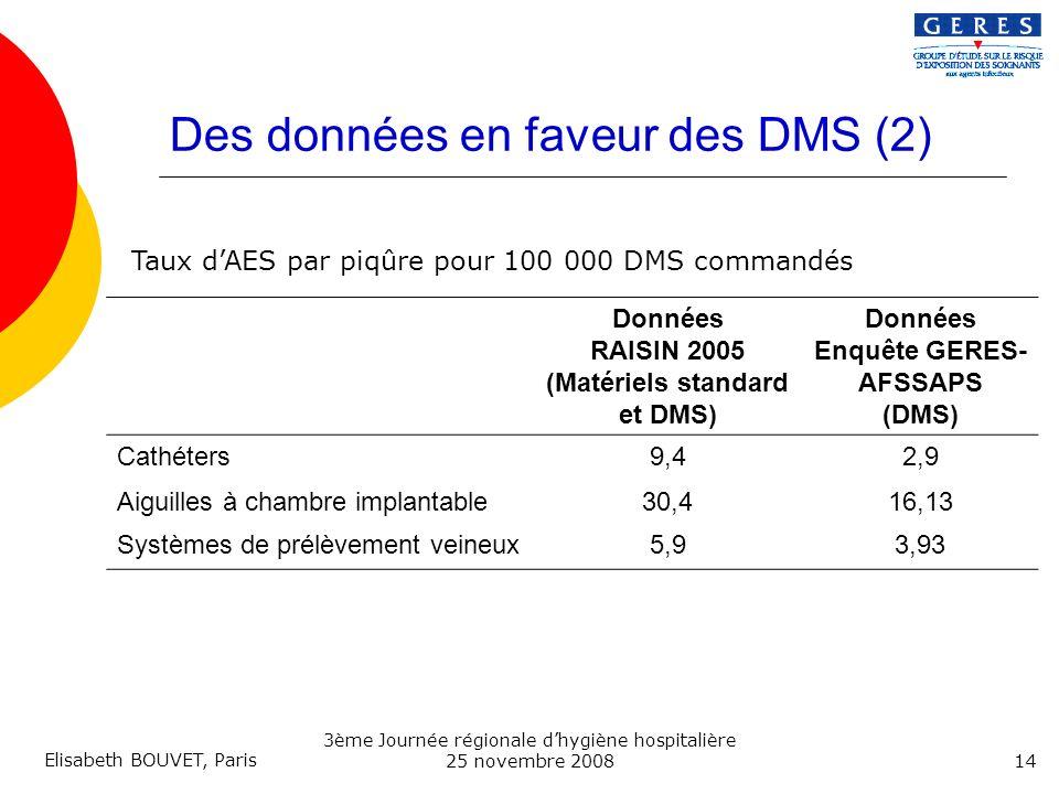 Des données en faveur des DMS (2)