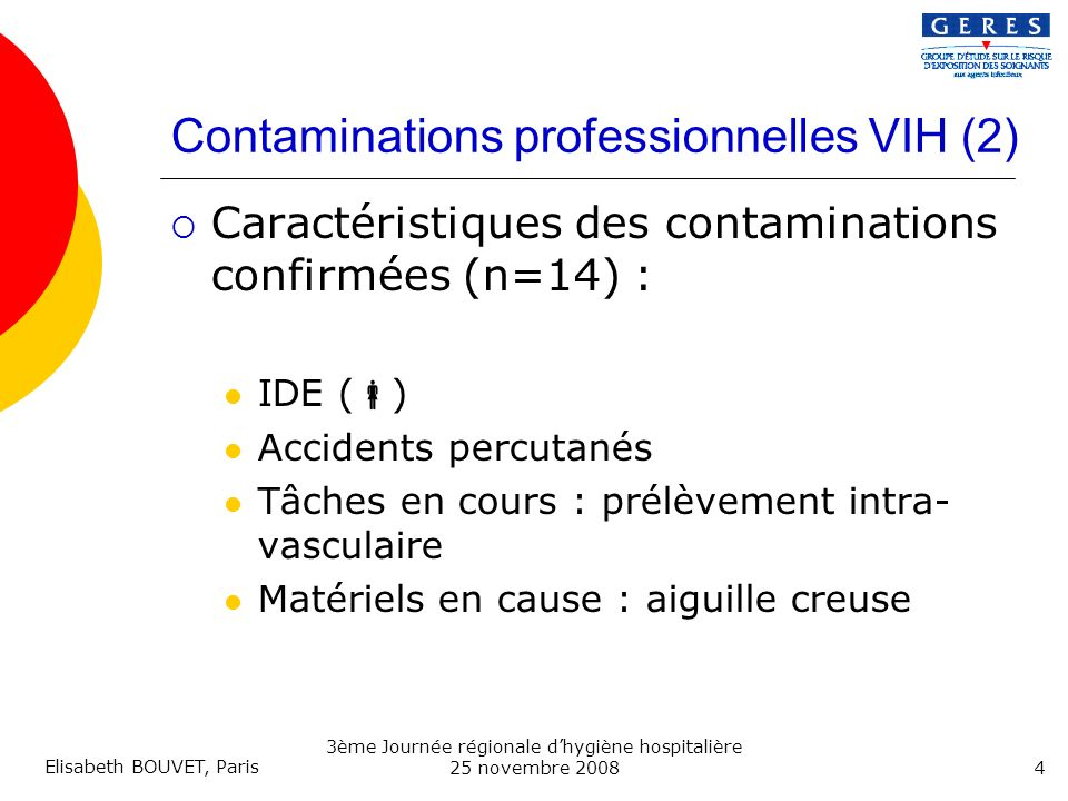 Contaminations professionnelles VIH (2)