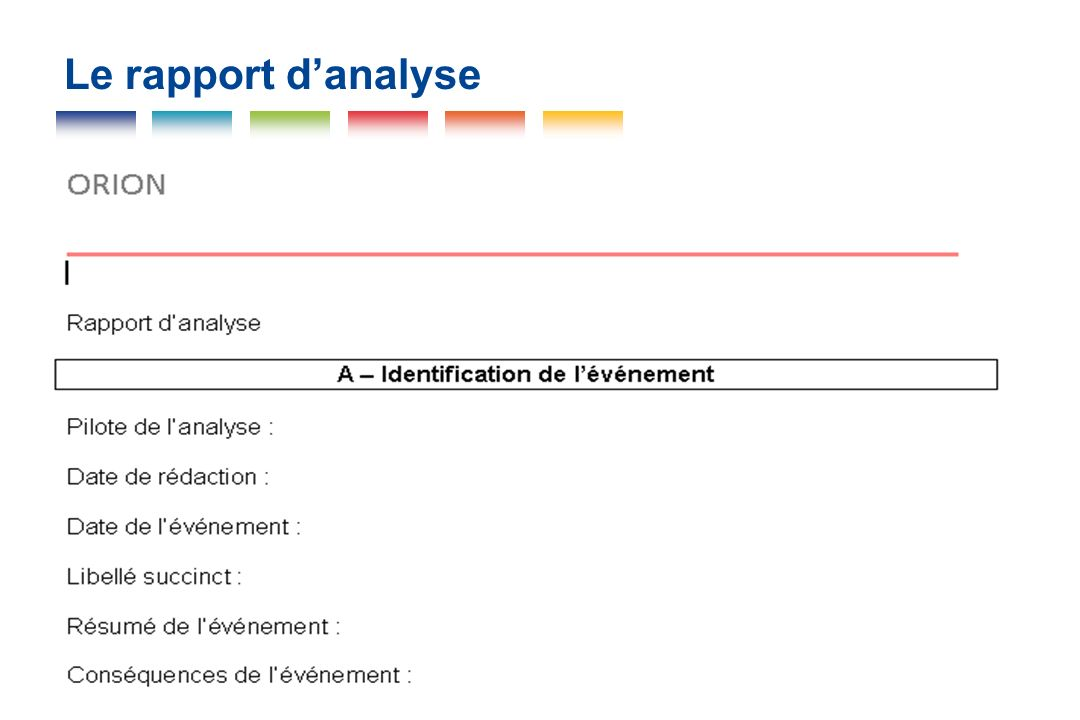 Le rapport d'analyse