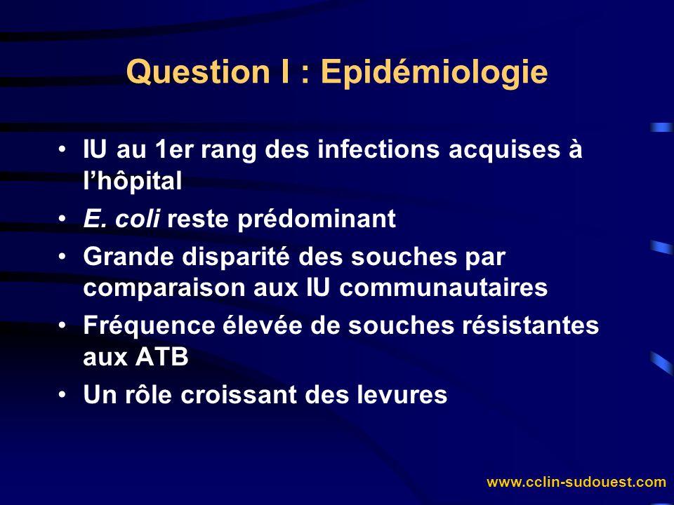 Question I : Epidémiologie
