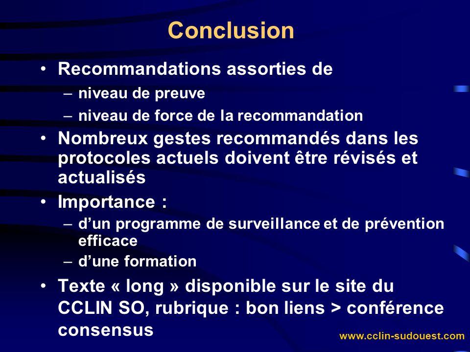 Conclusion Recommandations assorties de