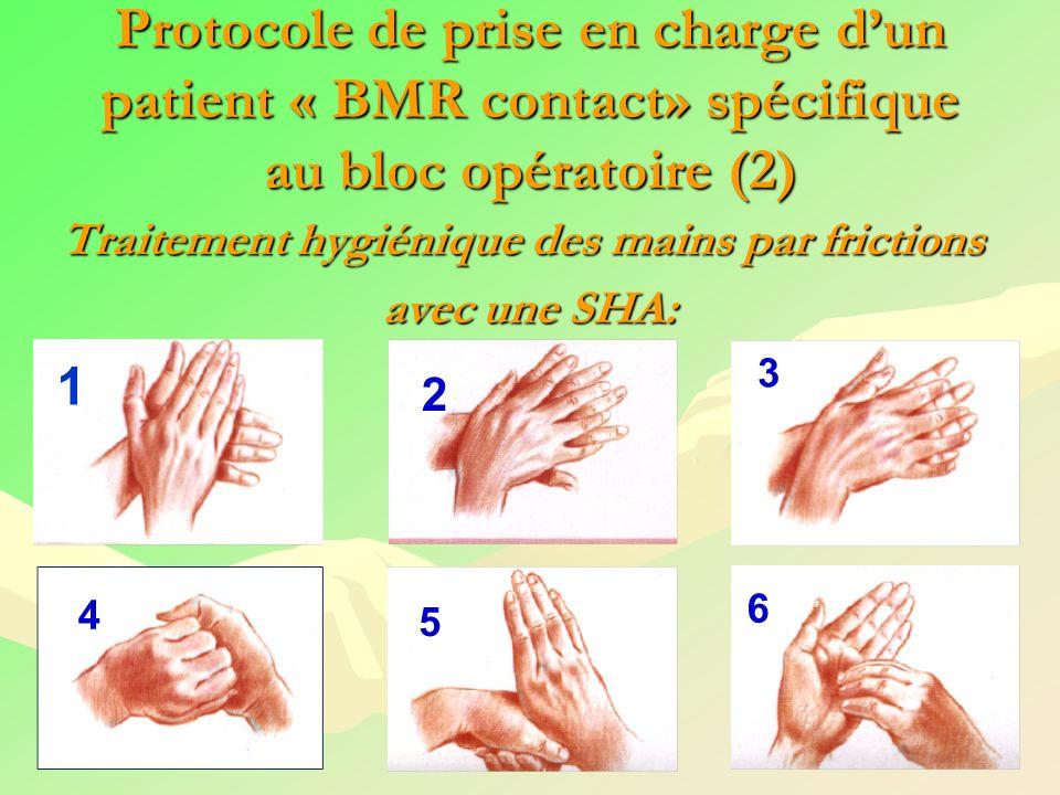 Traitement hygiénique des mains par frictions