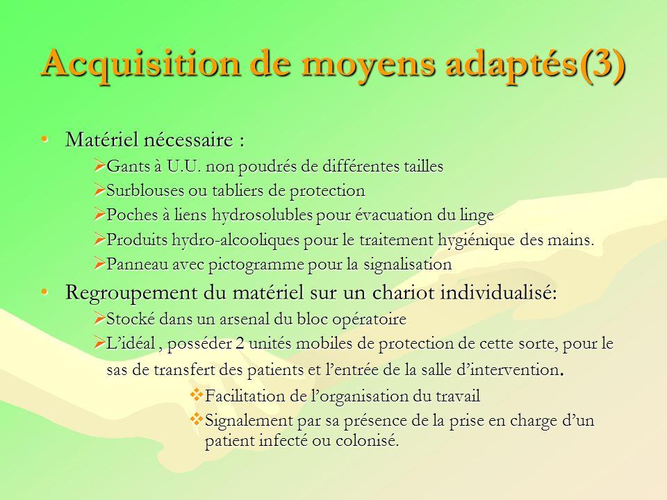 Acquisition de moyens adaptés(3)