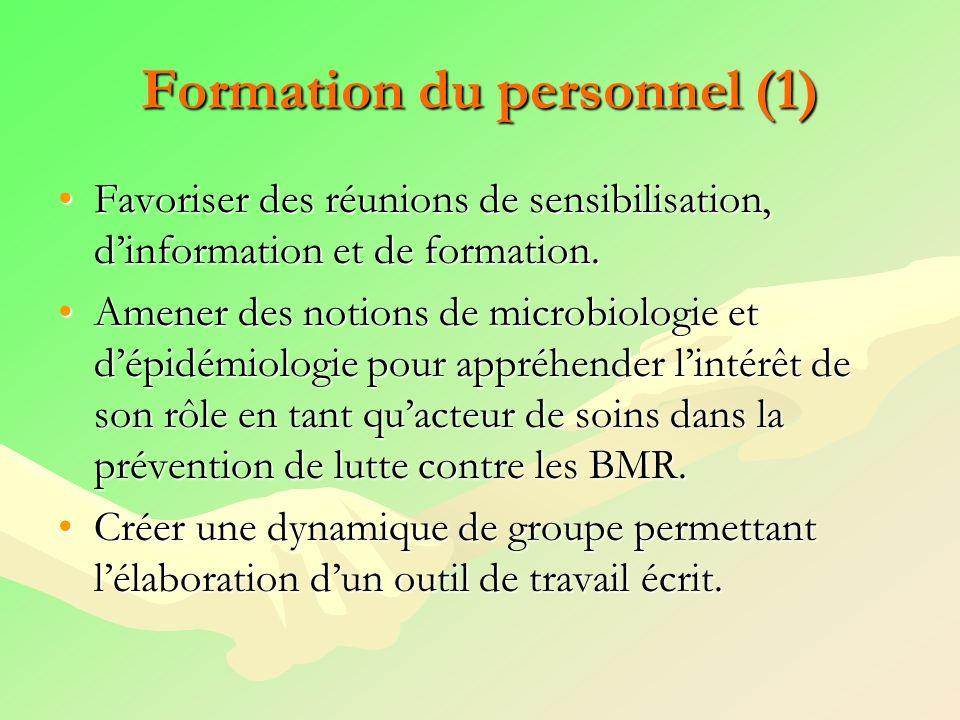 Formation du personnel (1)