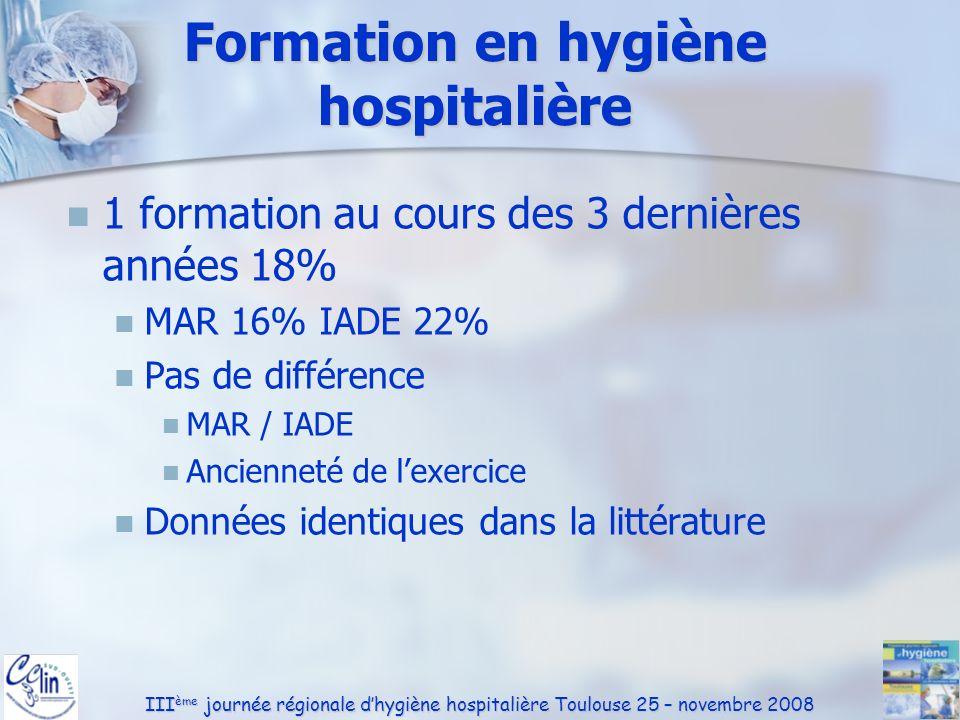 Formation en hygiène hospitalière