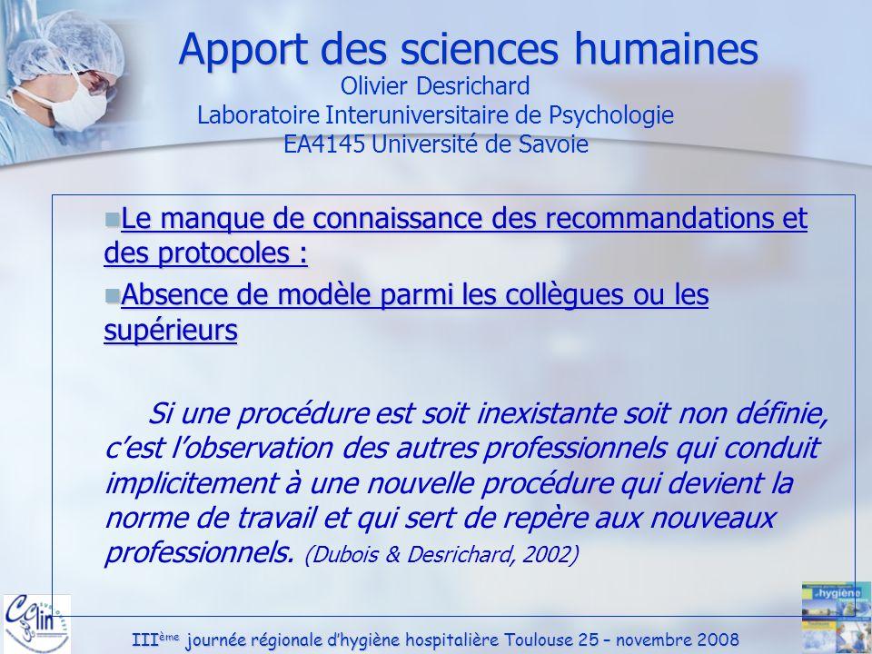 Apport des sciences humaines