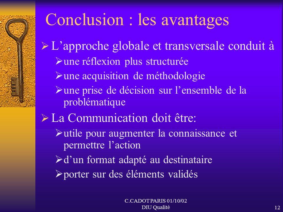 Conclusion : les avantages