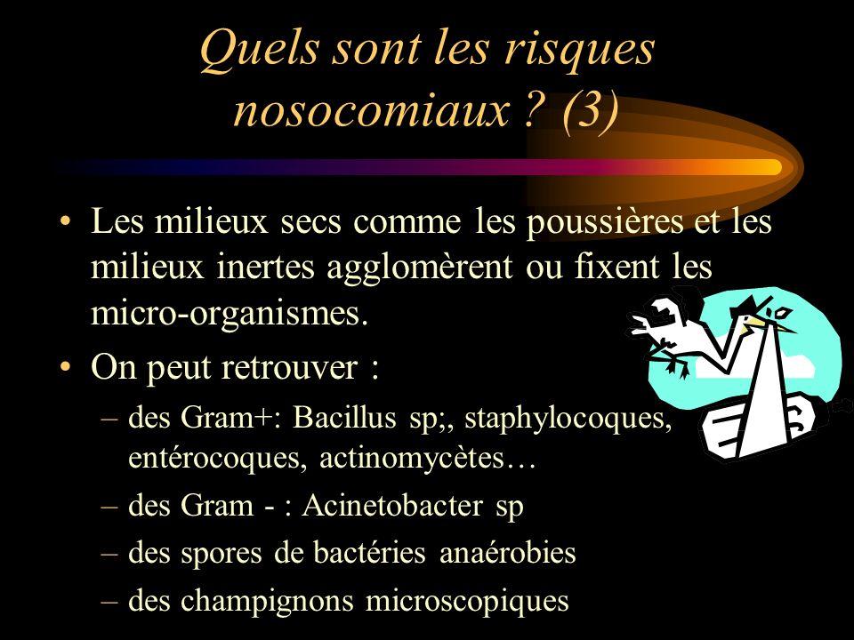 Quels sont les risques nosocomiaux (3)