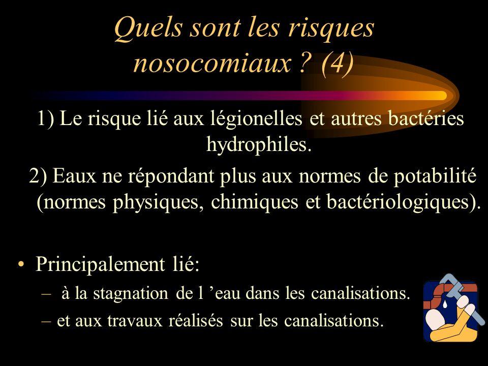 Quels sont les risques nosocomiaux (4)