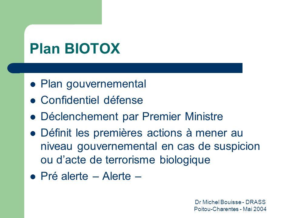 Dr Michel Bouisse - DRASS Poitou-Charentes - Mai 2004