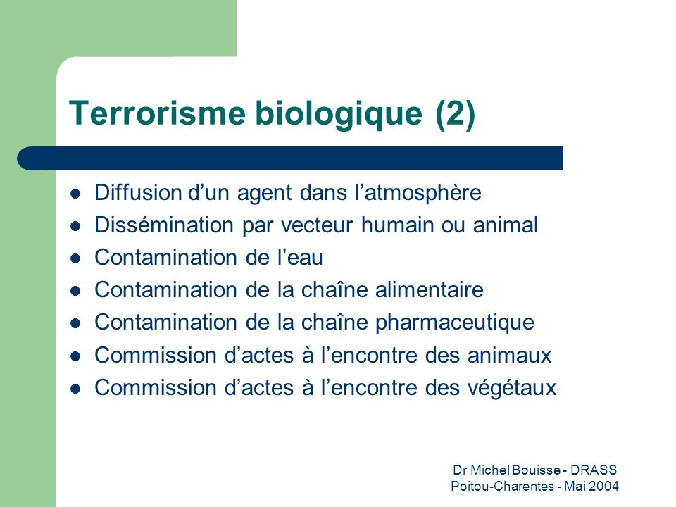 Terrorisme biologique (2)