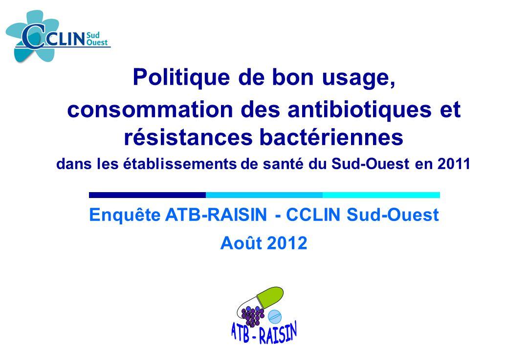 consommation des antibiotiques et résistances bactériennes
