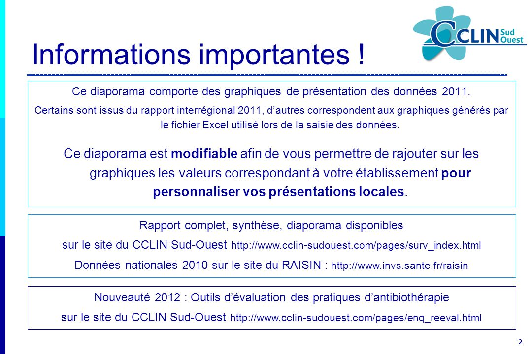 Informations importantes !