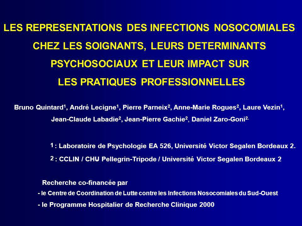 LES REPRESENTATIONS DES INFECTIONS NOSOCOMIALES