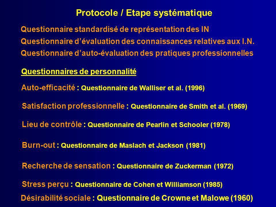 Protocole / Etape systématique