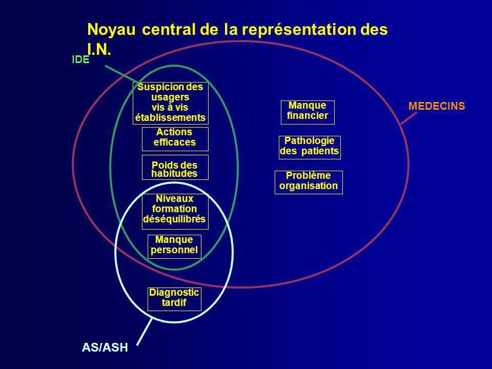 Noyau central de la représentation des I.N.