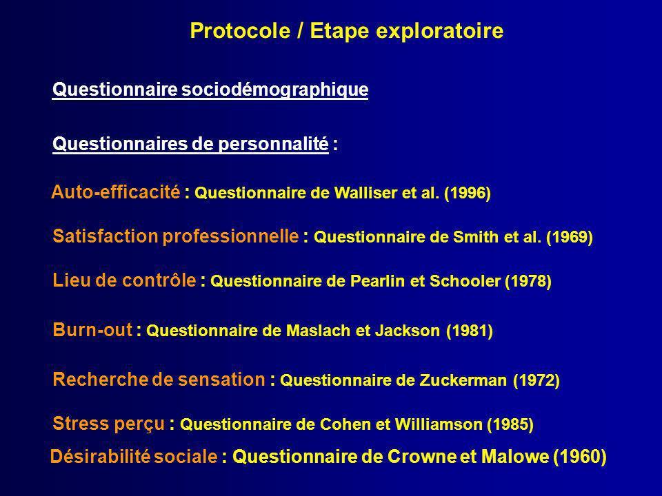Protocole / Etape exploratoire